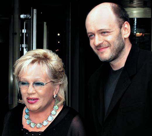 Галина Волчек и сын