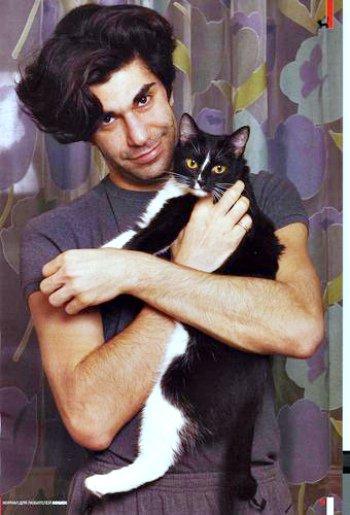 Николай Цискаридзе с кошкой