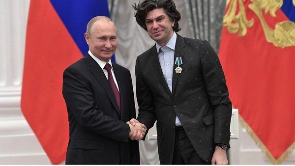 Николай Цискаридзе и президент Путин