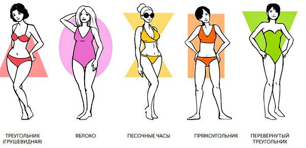 женская фигура 5 типов