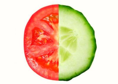 помидор и огурец