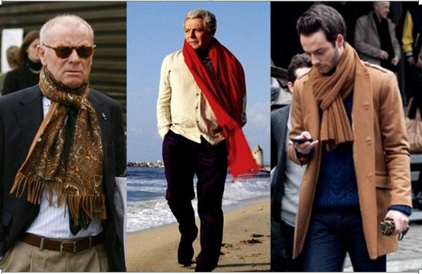 Как завязать мужской шарф видео